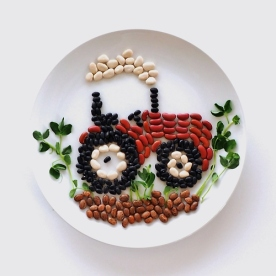 Original Tractor Culinary Canvas for Randall Beans.